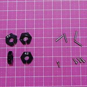 即決《送料無料》 ■黒 4mm■アルミ ホイール ハブ    ラジコン TT-02 YD-2 ヨコモ レッド マウント ドリパケ tt01 ラジコン