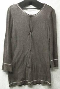 ワイズ ヨウジヤマモト * 薄手 綿ニット 断切り加工 二重 カーディガン 3 ( Y's Yohji Yamamoto Femme COTTON Knit Cardigan 3