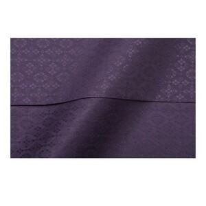 綸子りんずサテンジャガードポリエステル小剣菱 生地 古代紫 50cm 新品未使用 コスプレ衣装