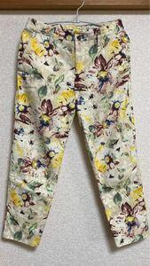 アダムエロペ 花柄 パンツ ズボン