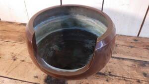 唐銅風炉 浄寿 造 金属工芸 釜師 箱付き