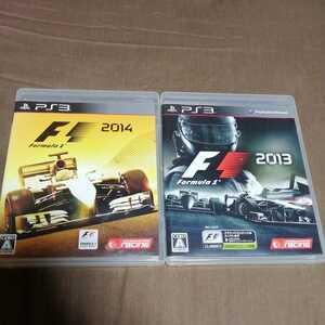 PS3 F1 2014 Formula1 2013 2本セット    プレステ3 ゲームソフト カセット カーレース 動作良好 即決