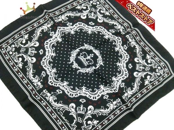 ドルチェアンドガッバーナ DOLCE&GABBANA - 黒×白×レッド 美品 スカーフ