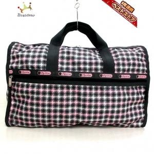 レスポートサック LESPORTSAC ボストンバッグ レスポナイロン ダークグレー×ピンク×マルチ 美品 バッグ
