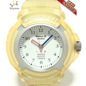 CASIO(カシオ) 腕時計■美品 Baby-G BG-201N レディース i・n・e 白