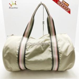 レスポートサック LESPORTSAC ハンドバッグ - レスポナイロン ベージュ×ダークブラウン×マルチ ミニボストン バッグ