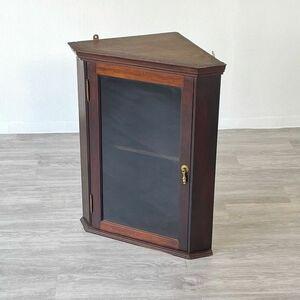 アンティーク 家具 ハンギング コーナーキャビネット ウォールラック 1900年頃 イギリス 英国 ビンテージ家具 収納 店舗什器 762A