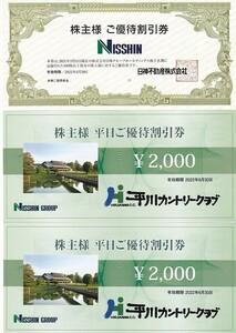 v 日神ホールディングス(平川カントリークラブ・平日2000円割引券×2枚)