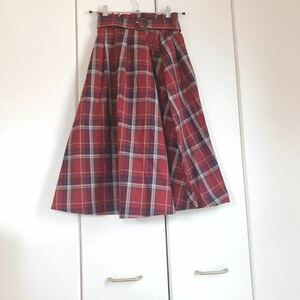 チェック柄スカート ロングスカート