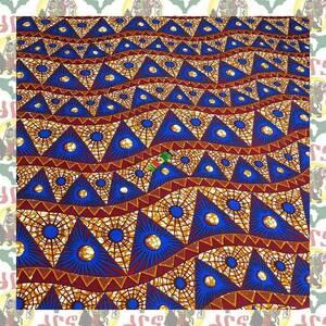 【SALE】アフリカンプリント生地 布 180cmx110cm(2ヤード) アフリカ布 アフリカ生地 アフリカ バティック ハンドメイド素材 barg-e48