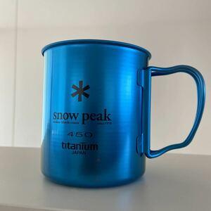 スノーピーク チタンマグ シングルウォール ブルー 450ml 海外限定 新品③ TITANIUM snow peak