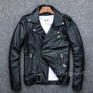 ★高級上品 バイクジャケット メンズライダース  レザー バイクウェア 革ジャン 本革 牛革 S~4XLサイズ選択