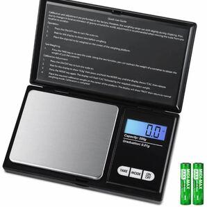 最新版 携帯タイプ ポケットデジタル スケール キッチンスケール 電子スケール 0.01g-200g 精密 業務用