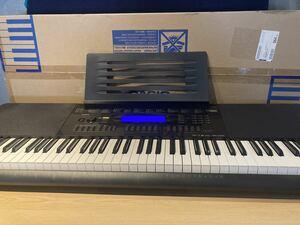 17年製 使用少なく動作良好 美品 CASIO カシオ 電子キーボード WK-245 76鍵盤 本箱あり