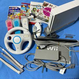 マリオカート はじめてのWii マリオブラザーズ Wii リモコン ハンドル ヌンチャク マリオパーティ9 本体