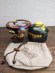 【点火確認済み】コールマン パルテノンストーブ シングルバーナー 収納袋、おまけOD缶付き