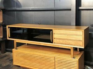 CRASH GATE/クラッシュゲート Easy Life/イージーライフ オーカー TVボード w165 ナラ材 オーク材 モダンインテリア 北欧インテリア 関家具