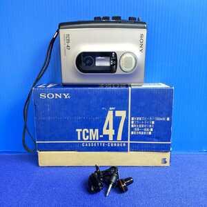 ◆SONY ソニー◆ポータブルカセットプレーヤー◆TCM-47◆再生/録音◆動作良好◆音出し良好