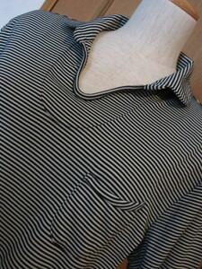 Y)■日本製ブランド品■【ドゥクラッセ DoCLASSE 】■ストレッチ綿57%混■素敵な襟元&デザインポケット!■お洒落なポロシャツ/L以上