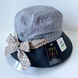 DAKS 帽子 ダックス ハット レディース UV加工 ブラック ハウスチェックリボン