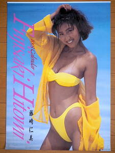 1993 year Fujisaki Hitomi calendar unused storage goods