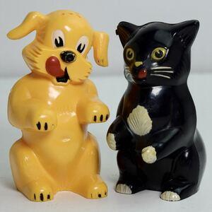 FIDO&FIFI ソルト&ペッパー S&P 調味料入れ ペットフード 犬 猫 イヌ ネコ アドバタイジング キャラクター 企業物 ビンテージ 50s