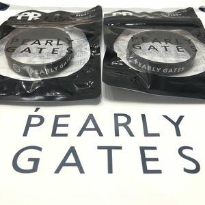 【新品】 限定品 PEARYL GATES 2個セット 虫除け ラバーバンド パーリーゲイツ ブレスレット 紺 ネイビー ゴルフ マスターバニー 8