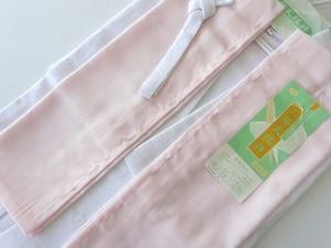洗える 長襦袢 二部式 絽 夏用 Lサイズ ピンク 752L