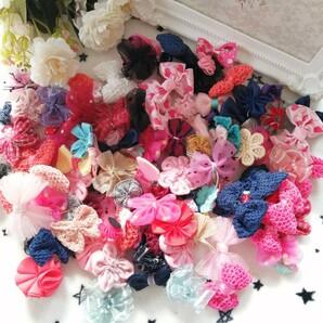 材料 手作り 花 モチーフ パーツ へやゴム ハンドメイド 花モチーフ リボン