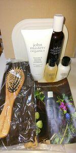 【雑貨】 未使用品 john masters organics ギフトセット シャンプー コンディショナー ボディウォッシュ ミルク ブラシ セット