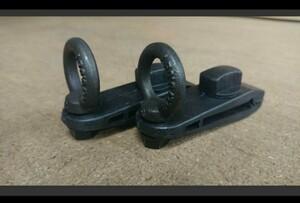 カーサイドタープ用クリップ 2個セット アイボルト付き 黒バージョン