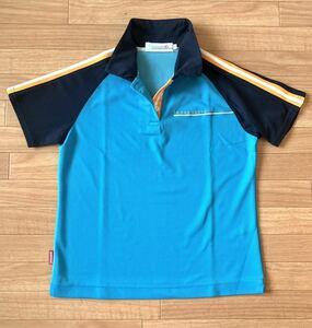 ルコック ゴルフコレクション デサント 半袖 レディース ドライ鹿子 ポロシャツ ゴルフ ブルー シャツ ゴルフウェア