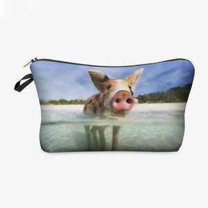 泳ぐ豚 メイクポーチ ペンケース マスクケース