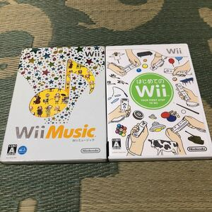Wii はじめてのWii+Wii Music 2本セット 中古
