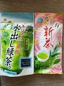 静岡川根茶 夏人気抹茶入水出し茶、上煎茶   農家直売 (我が家の無農薬ニンニクおまけ付き)