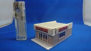 ◆オリジナル店舗建築模型03◆スケール1/150 Nゲージ ジオラマ 雑貨 鉄道模型