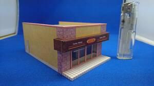 ◇オリジナル店舗建築模型06◇スケール1/87 HOゲージ ジオラマ 雑貨 インテリア 鉄道模型