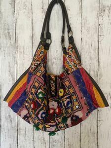 ハンドメイドバッグ 民族衣装 古布トート