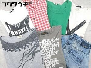 ■ DIESEL まとめ売り7点セット 各サイズ混合 Tシャツ カットソー シャツ ジーンズ デニム パンツ レディース メンズ 1002802033186