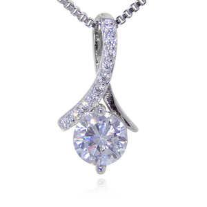最高級の逸品 絢爛 クロス レディース 厳選 高品質 11連CZダイヤモンドネックレス 必見 オススメ 新品未使用 ペンダント プラチナ仕上 限定