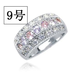 憧れの最上級 絢爛 9号 CZピンク&アメジストダイヤモンドリング プラチナ仕上 限定 厳選 極上の逸品 必見 オススメ 新品 レディース