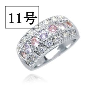 憧れの最上級 絢爛 11号 CZピンク&アメジストダイヤモンドリング プラチナ仕上 限定 厳選 極上の逸品 必見 オススメ 新品 レディース