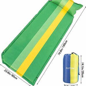 エアーマット 自動膨張式 キャンプマット 厚さ高反発フォーム構造