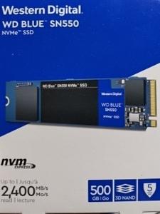 WD Blue SN550 NVMe SSD WDS500G2B0C M.2 2280 500GB Western Digital SSD M.2-2280