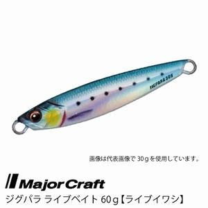 ■Major Craft/メジャークラフト ジグパラ ライブベイト カラーシリーズ 60g JPS-60L 【 #80 ライブイワシ】■