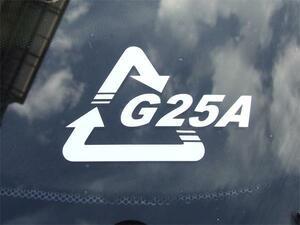 リサイクルマーク カッティングステッカー(2)レギュラーカラー お好きな文字を入れて 形式、車名など