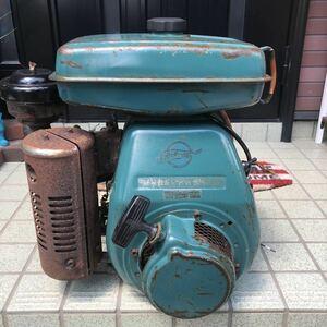 芝浦 GED25R-2 7馬力 ガソリンエンジン ハンマーナイフ プーリー付