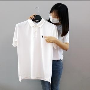 在庫処分!メンズポロシャツ POLO RALPH LAUREN ポロ ラルフローレン 定番 ワンポイント ポニー刺繍 トップス 半袖 綿 tシャツ ホワイト S