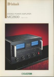 McIntosh MC2600のカタログ マッキントッシュ 管5933