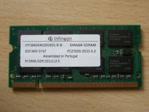 DDR333 PC2700 200Pin 512MB infineon chip Note for memory